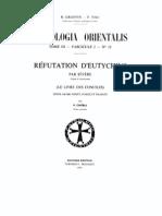 Patrologia Orientalis Tome III - Fascicule 2 - Refutation d'Eutychius par Severe