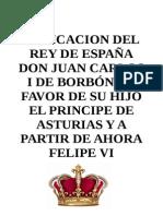 Abdicación Don Juan Carlos