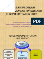 Integrasi Program Penanggulangan Hiv Dan Aids Di Bppm Diy 2012