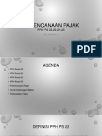 Indonesian Tax Planning (PPh Ps 22,Ps 23, Ps 24,Ps 25)