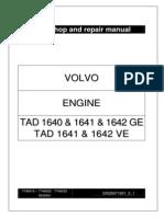TAD 1640, 1641, 1642 GE & TAD 1641 y 1642 VE Engine _ Workshop and Repair Manual _ 33525071901_0_1 _ Sept 2004 _ VOLVO PENTA