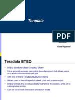 Teradata Bteq,Mload,Fload,Fexport,Tpump and Sampling