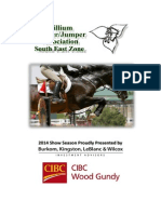 South East Trillium Hunter/Jumper Association 2014 Show Booklet