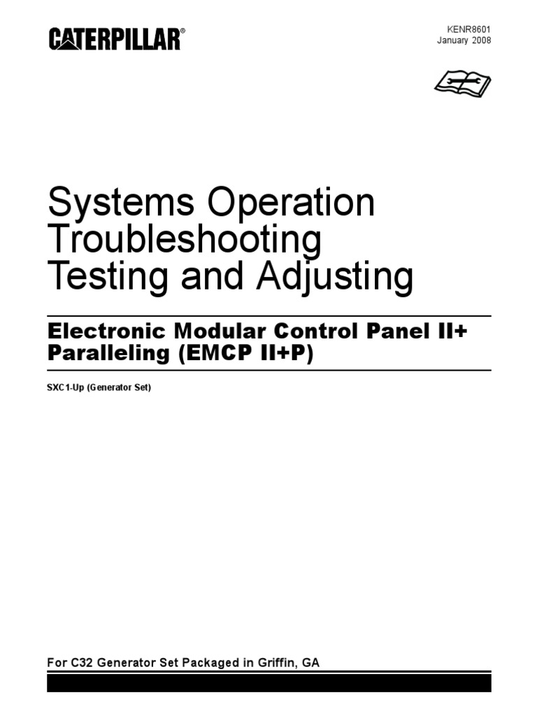 Electronic Modular Control Panel Ii   Paralleling   Emcp Ii   P   Systems Operation