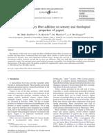 Influence of Dietary Fiber Additioon on Sensory and Rheological Properties of Yogurtt