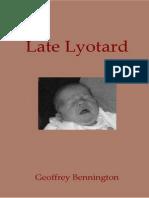 Late Lyotard