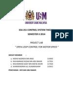 Esa 251 Control System Theory