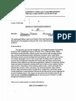 Affidavit filed to obtain search warrant of Google