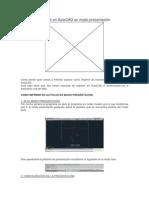 Imprimir en AutoCAD en Modo Presentación