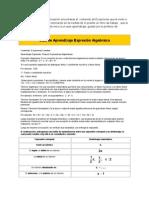 Expresiones Algebraicas 18.Oct.