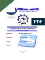 Centrales Hidroelectricas de Mayor Potencia en El Perú