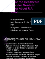 RA 9262 for Healthcare Providers