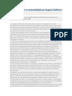 Culpabilidad Por La Vulnerabilidad Por Eugenio Zaffaroni