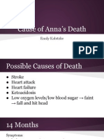 cause of annas death