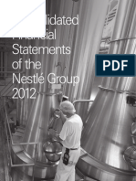 Nestle 2012 Financial Statements