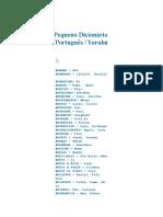 Livro - Dicionário de Português e Iorubá