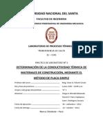 Laboratorio 01 - Determinacion de Conductividad Por Placas Simples