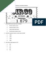 Examen de Matemàticas 3er Año de Primaria