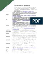 Lista de Todos Los Comandos en Windows 7