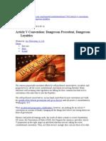 Article v Convention--Dangerous Precedent, Dangerous Loyalties