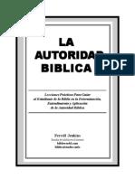 La Autoridad Biblica