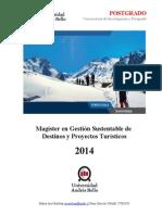 Magíster en Gestión Sustentable de Destinos y Proyectos Turísticos N 2014