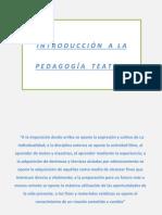 Introducción a La Pedagogía Teatral