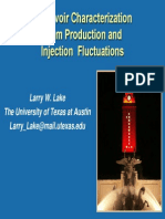 Reservoir Characterization From Production and Injections Fluctuations