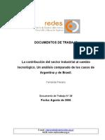 Peirano_Cambio Tecnológico en la Industria en Arg y Br_Doc.Nro28_2006