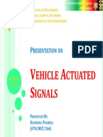 Vehicle Actuated Signals