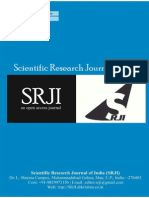 Scientific Research Journal of India  SRJI Vol 3, Issue 2, Year 2014 Full Issue