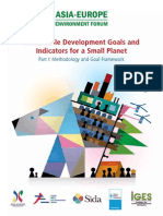 ASEF Report Sustainable Development Goals and Indicators for a Small Planet
