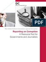 UNODC Reporting on Corruption A Resource Tool for Governments and Journalists, 2014