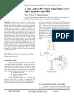 Data Flow for Effective Data Leakage Prevention using Elliptic Curve Digital Signature Algorithm