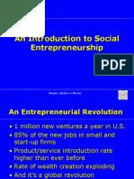 Social Entrepreneurship - introduction
