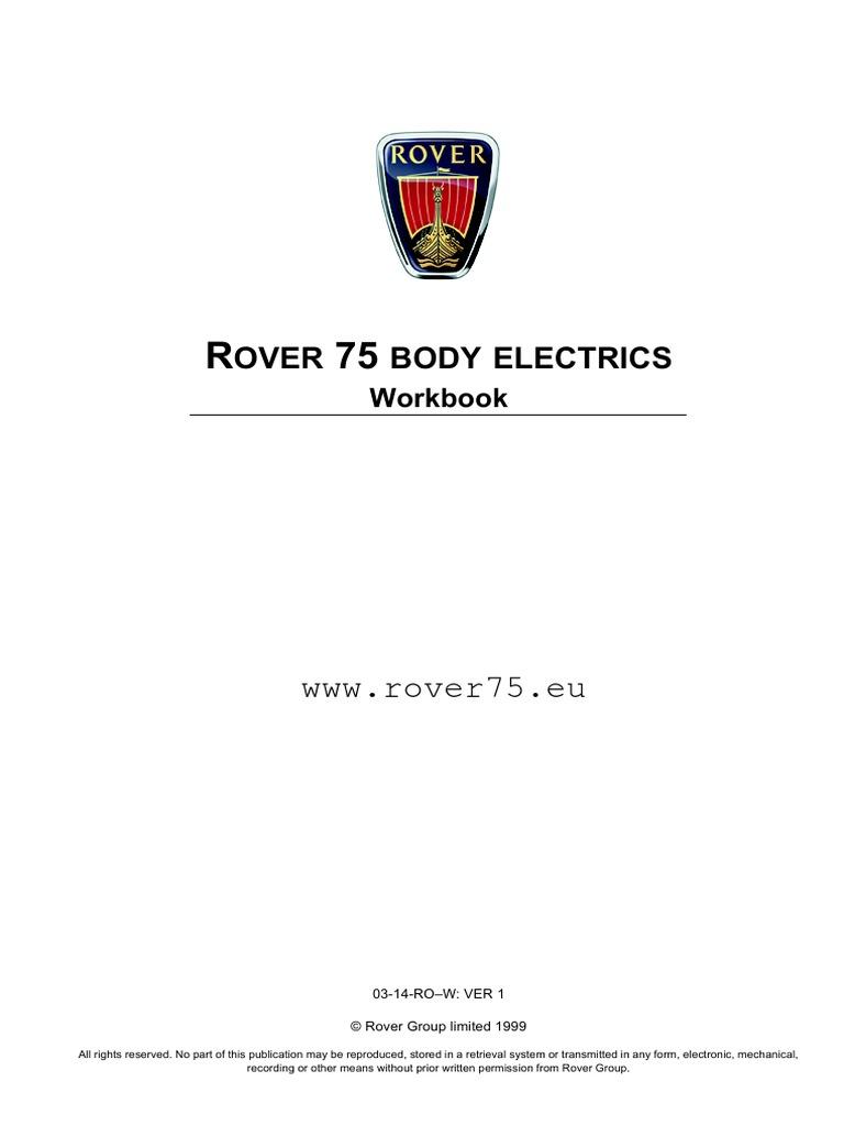 R75 Body Electrics Switch Computer Network Rover Fascia Main Fuse Box Diagram