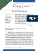 Energy Efficient LEACH Protocol for Wireless Sensor Network