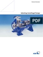 Selecting Centrifugal Pumps Data