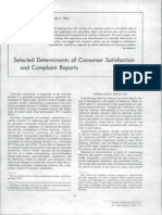+A.1983.Selected Det+A.1983.Selected Determinants of Consumer Satisfactionerminants of Consumer Satisfaction