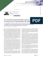 Responsabilité Des Arbitres-évolution Jurisprudentielle Majeure