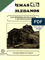 93 y 94. Los SdeEscalona y de Montalban, Por Fernando Jimenez de Gregorio