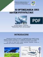 Optimizarea Unui Sistem Fotovoltaic