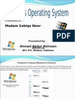 Microsft Windows Operating System Presentation