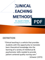 Clinical Teaching Methods