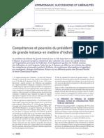 Indivision- Compétence Et Pouvoir Du TGI