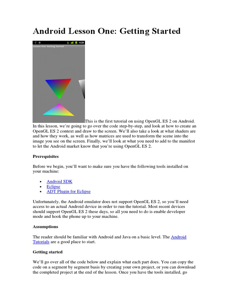 Android opengl 20pdf shader computer graphics baditri Image collections