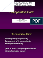 Perioperative Care Anaesthesia