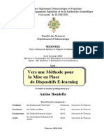 Mise en Place de Dispositifs E Learning