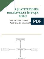 Boala Si Atitudinea Bolnavului in Fata Bolii