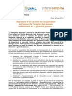 140605 CP Accord DGEFP-UNML-Prismemploi